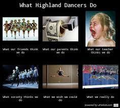 Popular highland dancing meme