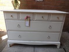 VINTAGE STAG MINSTREL SHABBY CHIC CHEST OF DRAWERS ANNIE SLOAN