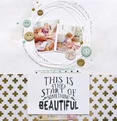 #papercrafting #scrapbook #layout idea: