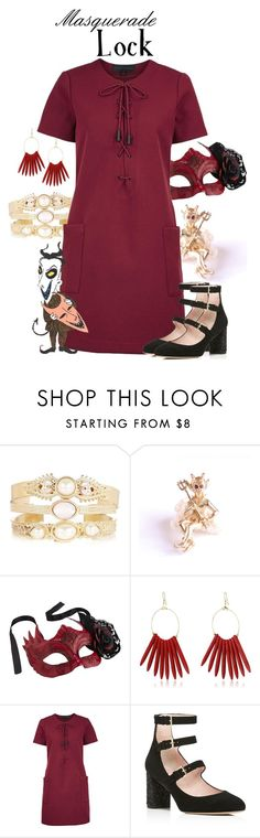"""""""Masquerade: Lock"""" by jivy44 ❤ liked on Polyvore featuring Pier 1 Imports, Kenneth Jay Lane, Kendall + Kylie and Kate Spade"""