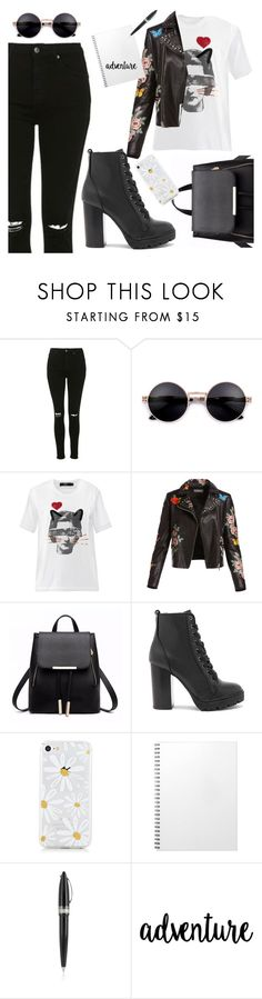 """Escola"" by thais-santana-1 ❤ liked on Polyvore featuring Topshop, Markus Lupfer, Bagatelle, Steve Madden and Pineider"