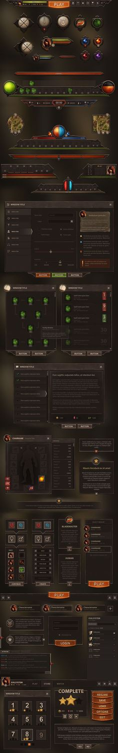 Burnblade UI by Evil-S.deviantart.com on @DeviantArt: