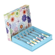 Portmeirion Set Of Six Porcelain And Stainless Steel 'Crazy Daisy' Pastry Forks for sale online Portmeirion Uk, Kitchenware, Tableware, Cookware, A Table, Kitchen Remodel, Helpful Hints, Daisy, Porcelain
