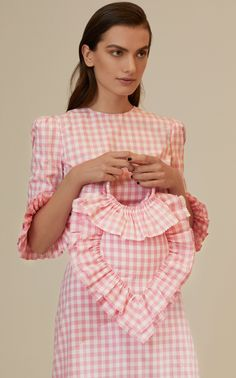 Get inspired and discover The Vampire's Wife trunkshow! Shop the latest The Vampire's Wife collection at Moda Operandi. Fashion Bags, Fashion Dresses, Womens Fashion, The Vampires Wife, Fashion Details, Fashion Design, Pink Gingham, Festival Dress, Fabric Bags