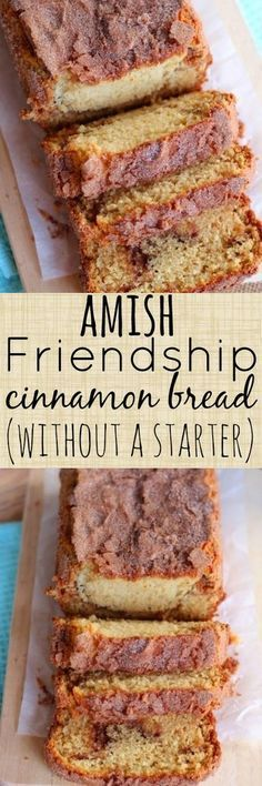 Friendship Cinnamon Bread Alternative {without a starter} Amish Friendship Cinnamon Bread Alternative without a starter - SO GOOD.Amish Friendship Cinnamon Bread Alternative without a starter - SO GOOD. Köstliche Desserts, Dessert Recipes, Cake Recipes, Top Recipes, Sweet Desserts, Friendship Bread Recipe, Friendship Cake, Bolo Fit, Bread Alternatives