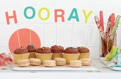 Celebrate any occasion with these adorable cupcake toppers. The Oh Joy for Target collection launches online and in stores March 16!