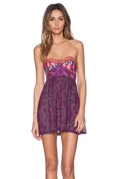 Maaji Plum Stakes Mini Dress in Magenta & Purple