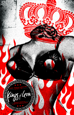 Kings of Leon poster  by Lure Design