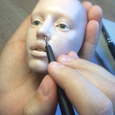 #шарнирнаякукла #процесс #ручнаяработа #полимернаяглина #bjd #sculpture #handmade #polymerclay