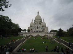 Sacre-Coeur on top of Montmartre, the highest point in Paris - lots and lots of steps!  (Not sure why there's a link to travelblog, I took this picture myself??)