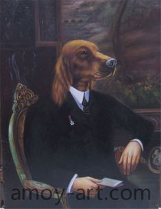 AA04DG001 (11)-Dog-China Oil Painting Wholesale | Portrait Oil Painting| Museum Quality Oil Painting Reproductions