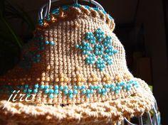 ビーズ編みのスヌード