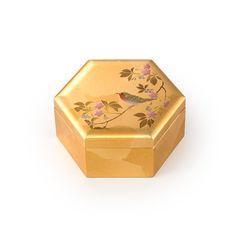 Cherry Blossom & Birds, Gold Leaf Small Box: JSHOPPERS.com