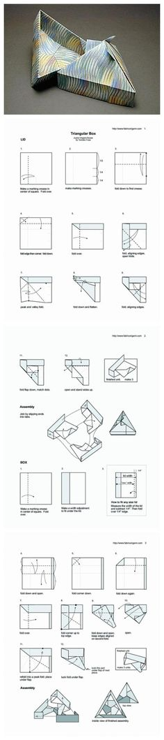 Origami triangle box