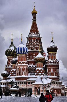 Snowy St Basil's, Moscow, Russia
