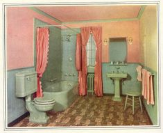 30's gold country girls: Great Old Bathrooms