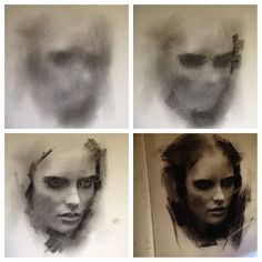 Steps for Portrait Drawing with Charcoal - Drawing On Demand Charcoal Portraits, Charcoal Art, Charcoal Drawings, Portrait Sketches, Portrait Art, Art Sketches, Figure Painting, Painting & Drawing, Human Anatomy Art