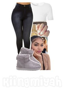 """Be a better you"" by kiingmiyah ❤ liked on Polyvore featuring Glamorous, MICHAEL Michael Kors, Rolex and UGG"