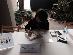 The awesome @Marie_Lu from the Legend trilogy. #yallfest @YALLFEST Book Festival -@Richard Dillman