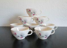 Canonsburg Wild Clover Eight Ceramic Coffee Tea Cups AtomicPutz.com