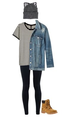 """#206"" by diva-996 on Polyvore featuring NIKE, H&M, Madewell, Timberland and Silver Spoon Attire"