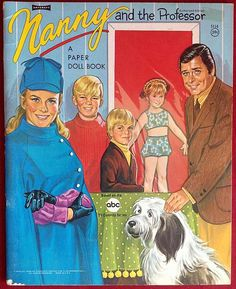 Nanny And The Professor Paper Dolls (1970). By Artcraft.