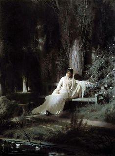 Color & Light - Ivan Kramskoy - Moonlit Night - 1880