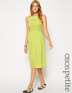 fc593d9b40 ASOS PETITE Exclusive Midi Dress with Strappy Backless Detail Asos Petite