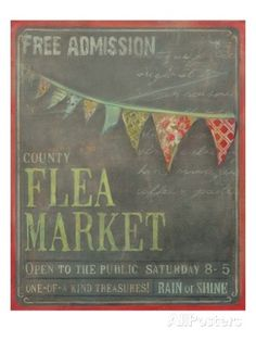 Country Flea Market Poster by Mandy Lynne at AllPosters.com