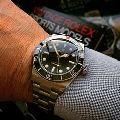 """Catching up on some light reading. Always know your craft, inside and out. - The Ref 216A Red Depth Submariner. The only modern Rolex with a true gilt…"""