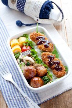 Meatballs and Pork Katsu Bento
