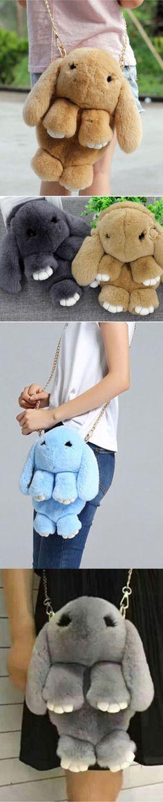 New bag Rex rabbit, fur rabbit bag, fur shoulder bag, Messenger bag BAG 027 - Handbags & Purses