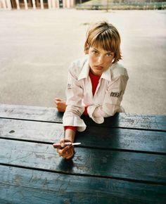 Linda Evangelista, Central Park, New York, 1993. Ph. Juergen Teller