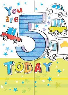 Ling Design Fun Five Birthday Card