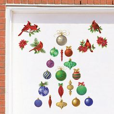 Classic Holiday Garage Magnets - Set of 30