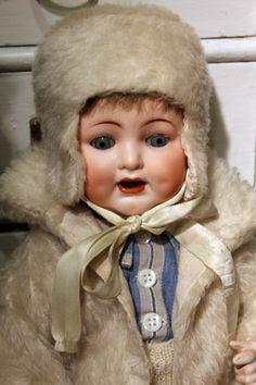 German doll in winter costume. Suomenlinna Toy Museum, Helsinki, Finland.