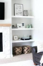 Image result for built in floating shelves