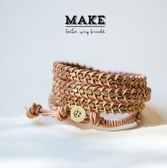 Poppytalk: DIY | Leather Wrap Bracelet
