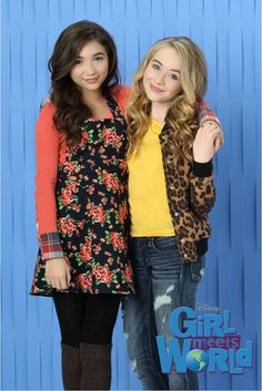 Rowan Blanchard and Sabrina Carpenter #GMW   I always love their outfits. ^_^ But I can never wear their clothes because they have layers, and it's always hot in San Diego. Follow Jeyna Gonzales!
