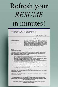 This modern resume template for Word with cover letter template is ideal for professional posts - executive, marketing, admin, sales, project management - and more!  Welcome from Developing Careers - resume templates / CV templates + cover letters designed to help you make a superb first impression – because first impressions last! Cover Letter Design, Cover Letters, Cover Letter Template, Simple Resume Template, Cv Template, Resume Templates, Marketing Resume, Sales Resume, Resume Words