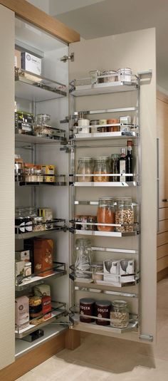 Pull Out Shelves An Best Option for Kitchen Pantry Storage. Pull Out Shelves An Best Option for Kitchen Pantry Storage. 35 Variety Of Appliances Storage Ideas for Your Kitchen Kitchen Corner Cupboard, Kitchen Cupboard Organization, Kitchen Pantry Cabinets, Diy Kitchen Storage, Modern Kitchen Cabinets, Organized Kitchen, Kitchen Modern, Cupboard Storage, Corner Pantry