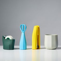 Each item in this six-piece stationery set by London designer Samuel Wilkinson has a soft faceted body, revealed at Maison&Objet 2014.