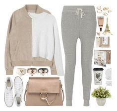 """""""2136. My Lazy Day"""" by chocolatepumma ❤ liked on Polyvore featuring Avenue, Monki, James Perse, Converse, Chloé, Natural Life, Nearly Natural, Forever 21, MAC Cosmetics and Zara Home"""