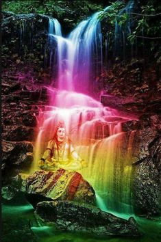 Colorful Waterfall Square Diamond Painting You are in the right place about Rainbow illustration Here we offer you the most beautiful pictures about the Rainbow paper you are looking for. When you examine the Colorful Waterfall Square Diamond Painting … Nature Pictures, Cool Pictures, Beautiful Pictures, Beautiful Nature Wallpaper, Beautiful Landscapes, Rainbow Waterfall, Rainbow Aesthetic, Rainbow Art, Rainbow Colors