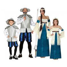 Grupo Don Quijote y Dulcinea Azules #disfraces #carnaval #disfracesparagrupos