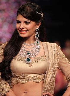 INDIA INTERNATIONAL JEWELLERY WEEK 2013 Day 2 - Jacqueline Fernandes walked the ramp for PC Jewellers