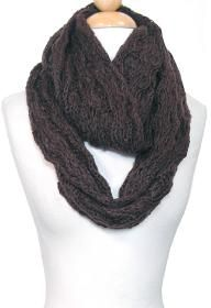 Comfy knitted loop scarf [Peach Couture; eco-friendly]