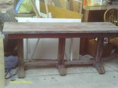 long skinny barn wood table