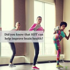 Did you know that HIIT can help improve brain health?      HIIT increases the levels of brain derived neurotrophic factor (BDNF) a protein that is responsible for repairing brain cells regulating mood memory and our ability to learn.  Low levels of BDNF have been linked to mood disorders like bipolar disorder depression and schizophrenia.       When HIIT is paired with a diet of lean protein and complex carbohydrates it can improve mod and memory.  A brain healthy diet provides the brain…