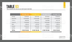 web pricing table template for business plan comparison of services